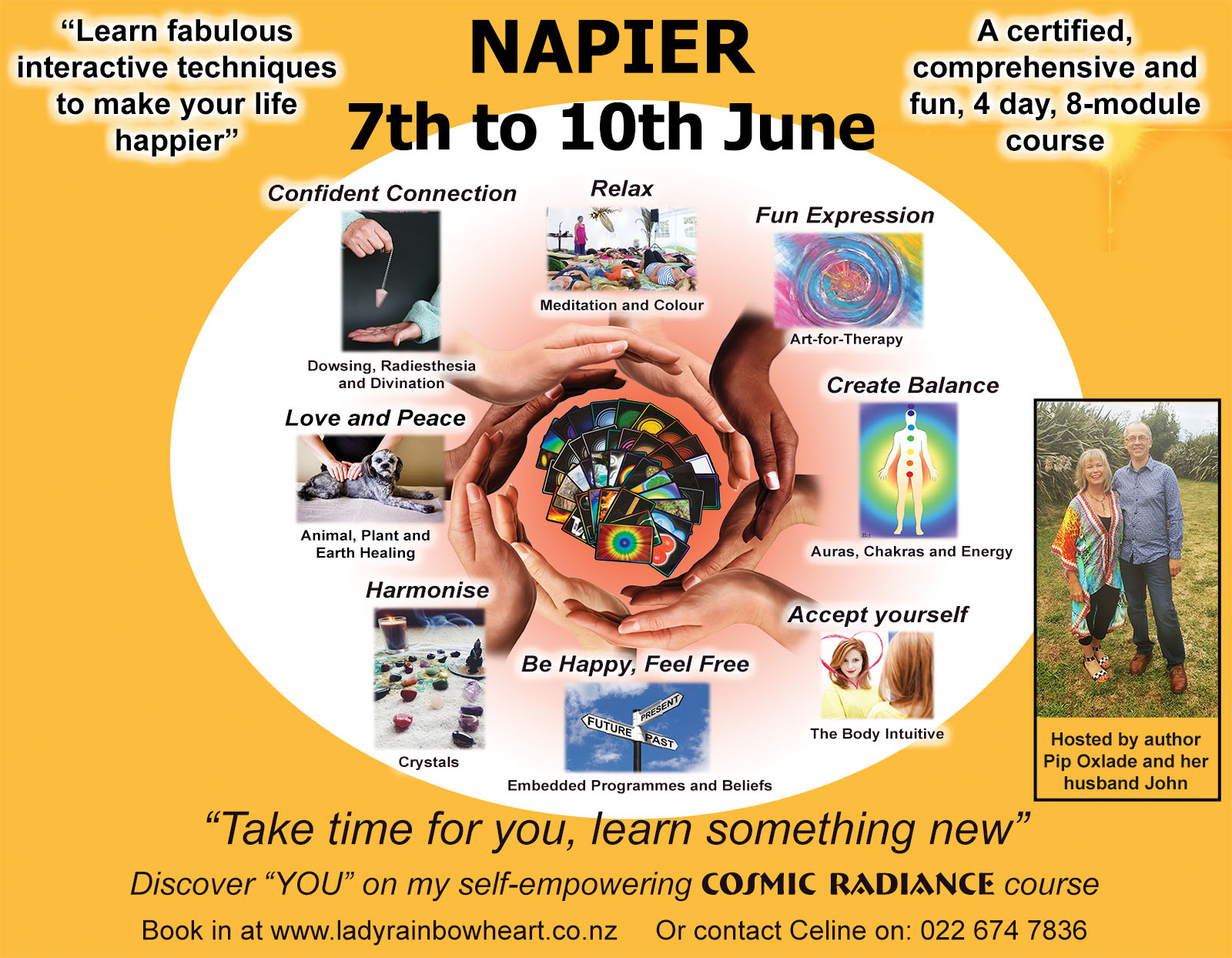A4 flyer for Cosmic in Napier 2018 small